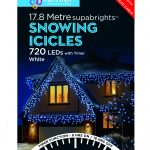 Premier Snowing Icicle Multi-Action 17.8m LED Christmas Lights (White)