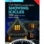Premier Snowing Icicle Multi-Action 17.8m LED Christmas Lights (Warm White)
