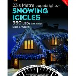 Premier Snowing Icicles Superbrights Blue And White Mix 960 Lights
