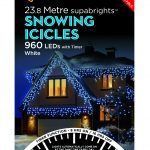 Premier Snowing Icicles Superbrights White 960 Lights