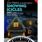 Premier Snowing Icicles Superbrights Warm White 960 Lights