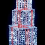 Premier Lit Soft Acrylic Red Parcels 105cm with White LEDs Outdoor Christmas Decorations