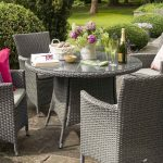 Hartman Madison 4 Seat Round Set (Slate Weave & Stone Cushion)