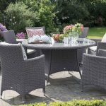 Hartman Madison 6 Seat Round Set (Slate Weave & Stone Cushion)