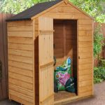 Forest Garden Apex Overlap Dipped No Window 5 x 3 Wooden Garden Shed (ASSEMBLED)