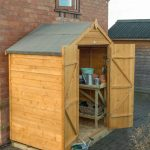 Forest Garden Overlap Dip Treated 6×4 Apex Shed with Double Door (No Window)
