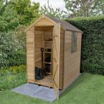 Forest Garden Apex Overlap Pressure Treated 6 x 4 Wooden Garden Shed (ASSEMBLED)