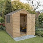 Forest Garden Apex Overlap Pressure Treated 8 x 6 Wooden Garden Shed