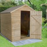 Forest Garden Apex Overlap Pressure Treated No Window 8 x 6 Wooden Garden Shed (ASSEMBLED)