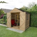 Forest Garden Apex Overlap Pressure Treated Double Door 7 x 5 Wooden Garden Shed