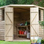 Forest Garden Overlap Pressure Treated 7×7 Corner Shed (Installation Included)