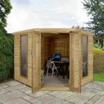 Forest Garden Oakley Overlap 8×8 Corner Summerhouse (Installation Included)