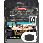 Bosmere Protector 6000 Circular Table Cover – 4/6 seat (Black)
