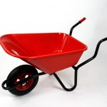 Bullbarrow Bronco Wheelbarrow 110 Litres (Red)