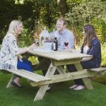 Forest Garden Rectangular Picnic Table – Small