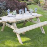 Forest Garden Rectangular Picnic Table – Large