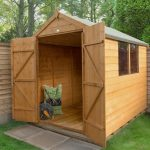 Forest Garden Shiplap Dip Treated 8×6 Apex Shed with Double Door