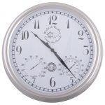 Fallen Fruits Wall Clock & Weather Station Cream (Numerical)