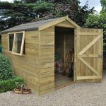 Forest Garden Apex Tongue & Groove Pressure Treated 8 x 6 Wooden Garden Shed (ASSEMBLED)
