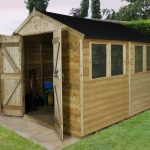 Forest Garden Apex Tongue & Groove Pressure Treated Double Door 10 x 8 Wooden Garden Shed