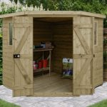 Forest Garden Tongue & Groove Pressure Treated 7×7 Corner Shed (Installation Included)