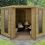 Forest Garden Arlington Premium Tongue & Groove 8×8 Corner Summerhouse