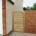 Forest Garden 6ft Europa Curved Gate (1.80m High)