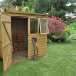 Forest Garden Pent Tongue & Groove Pressure Treated 5 x 7 Wooden Garden Shed (ASSEMBLED)