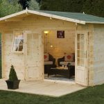 Forest Garden Buxton Log Cabin 4.0m x 3.0m (ASSEMBLED)