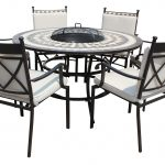 LG Outdoor Casablanca 6 Seat Highback Dining Firepit Set