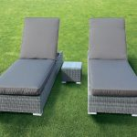 Katie Blake Chatsworth Double Sunlounger Set (Natural Weave/Taupe)