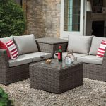 Hartman Appleton Corner Set with Cushion Storage (Slate/Stone)