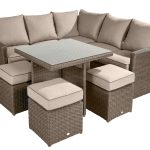 Hartman Appleton Square Casual Weave Dining Set – Cube Table with Cover (Bark/Sand)