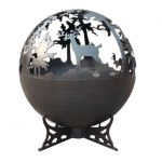 Lifestyle Deer Fire Globe Black Firepit