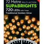 Premier Supabright Multi Action 54.7m LED Christmas Lights (Traditional Golden Glow)