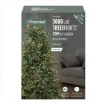 Premier 3000 Multi-Action LED Treebrights With Timer (White and Warm White)