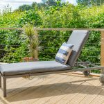 LG Outdoor Milan Sunlounger and Cushion