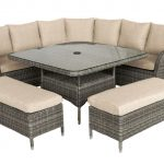 LG Outdoor Monaco Oak Large Square Dining Modular (Sepia /Beige)