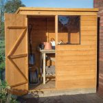 Forest Garden Overlap Dip Treated 6×4 Pent Shed (Installation Included)