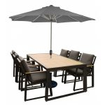 LG Outdoor Roma Aluminium Collection 6 Seat Dining Set