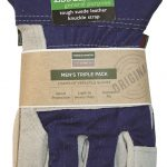 Town & Country Mens Gardening Gloves Value 3pk (Large)